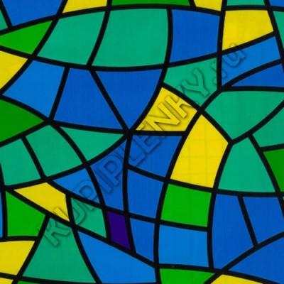 9022C витражная пленка на стекло самоклеющаяся с рисунком цветная D&B Китай шириной 45 см и длиной 8 м