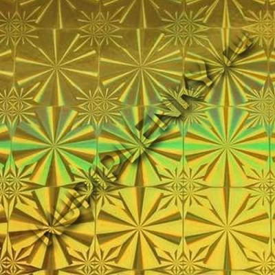 LB-042B голографическая пленка самоклеющаяся желтая D&B Китай шириной 45 см и длиной 8 м
