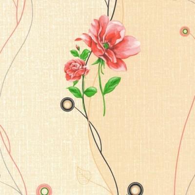 8258 самоклеящаяся пленка красный цветок D&B Китай шириной 45 см и длиной 8 м