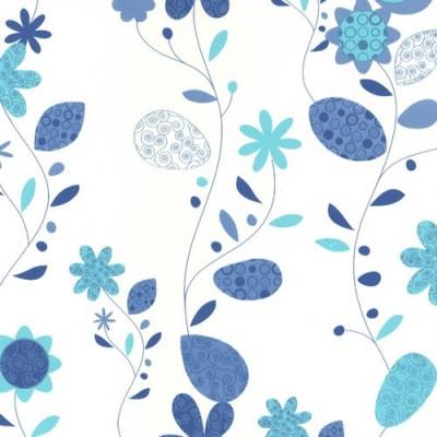 8299 самоклеящаяся пленка синие цветы D&B Китай шириной 45 см и длиной 8 м